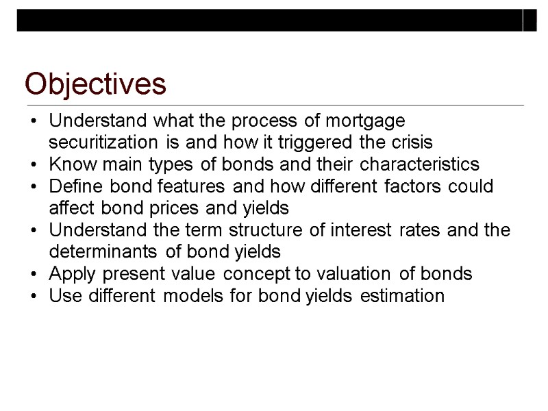 Topic 2 Valuing Debt Securities  Bonds Valuation and