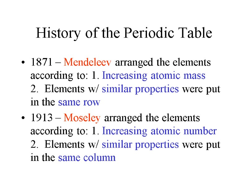 Periodic Table Trends History Of The Periodic
