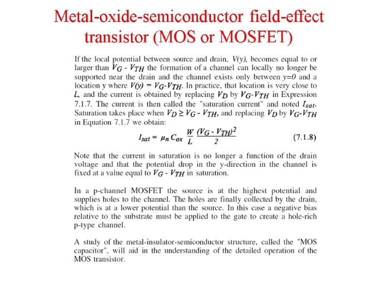 Metal-Insulator-Semiconductor and Metal-Insulator-Metal