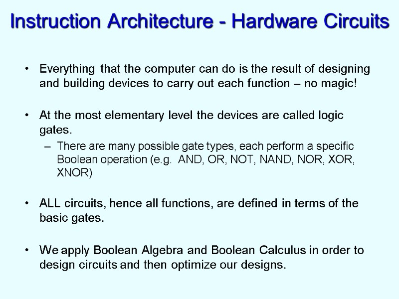 Digital Design and Computer Architecture 60-265 Dr  Robert