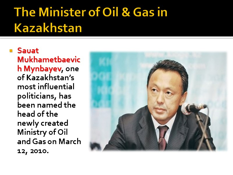 What role does Kazakhstan play in oil and