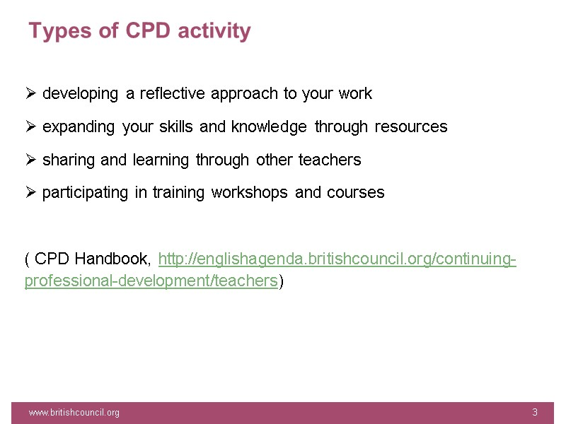 www britishcouncil org 1 CPD with BC continuing professional