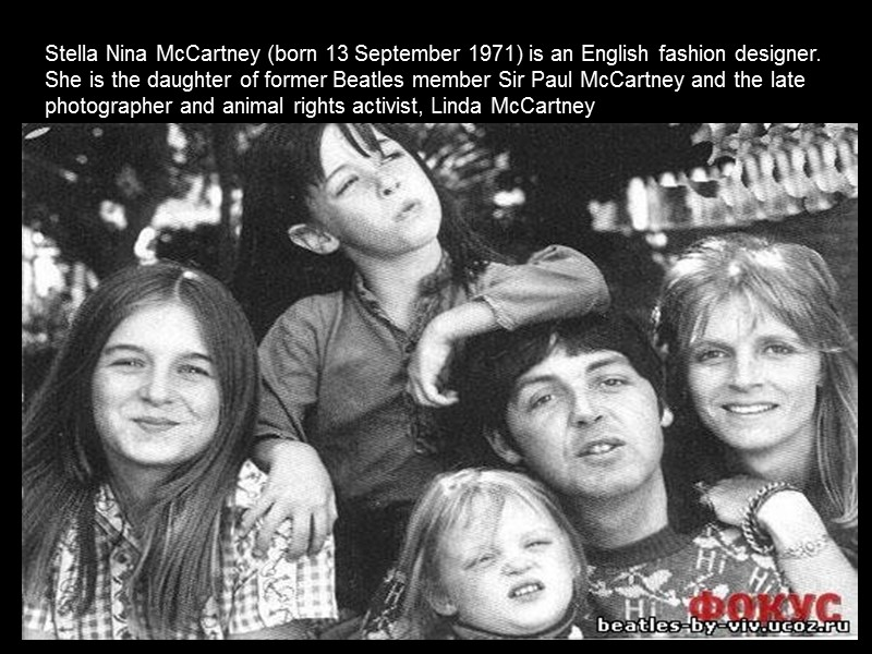 Stella Mccartney Stella Nina Mccartney Born 13 September