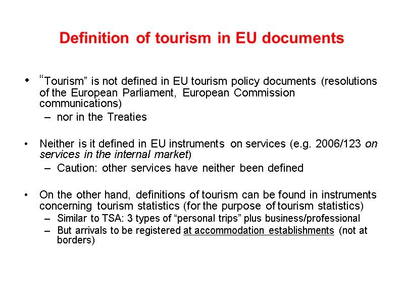 internal tourism definition