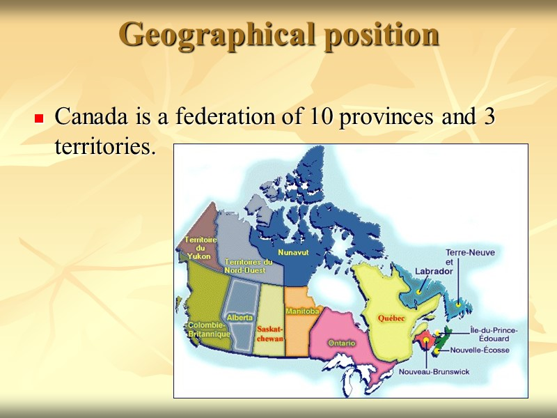 english speaking provinces in canada