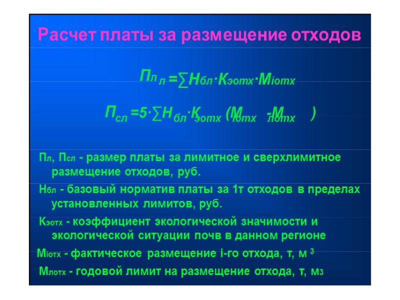 Табл.1 Нормативы платы за  выброс  № Наименование  п/п загрязняющих веществ