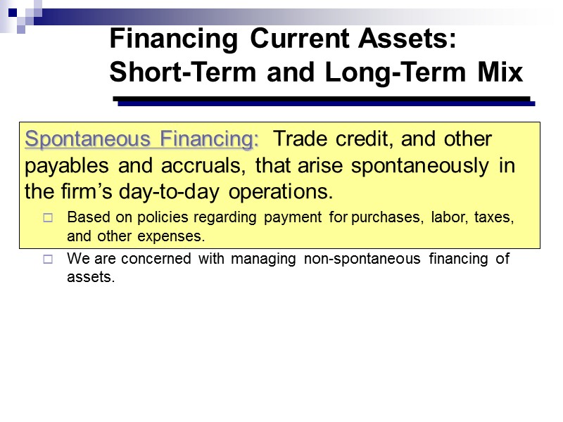 Long term cash surpluses Slide 101 Investments – new projects or acquisitions  Financing