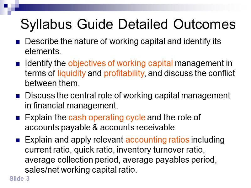 Chapter 5 Chapter 5  Managing working capital