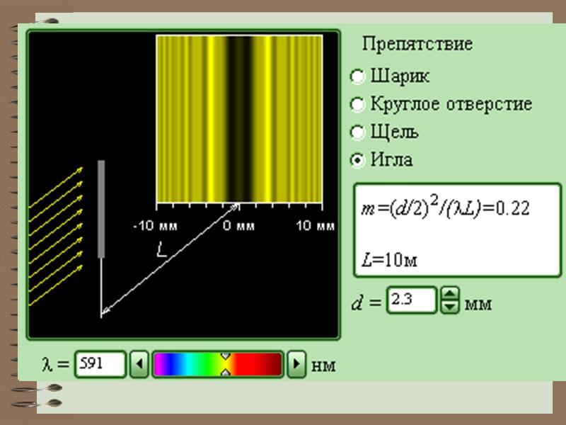 Принцип  Гюйгенса-Френеля:  каждая точка волновой поверхности является источником вторичных сферических волн,
