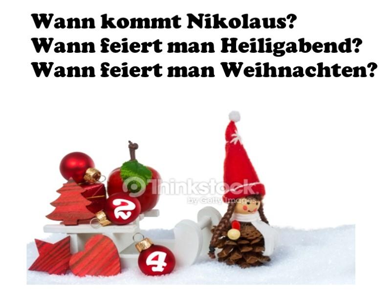 Wann Feiert Man Nikolaus