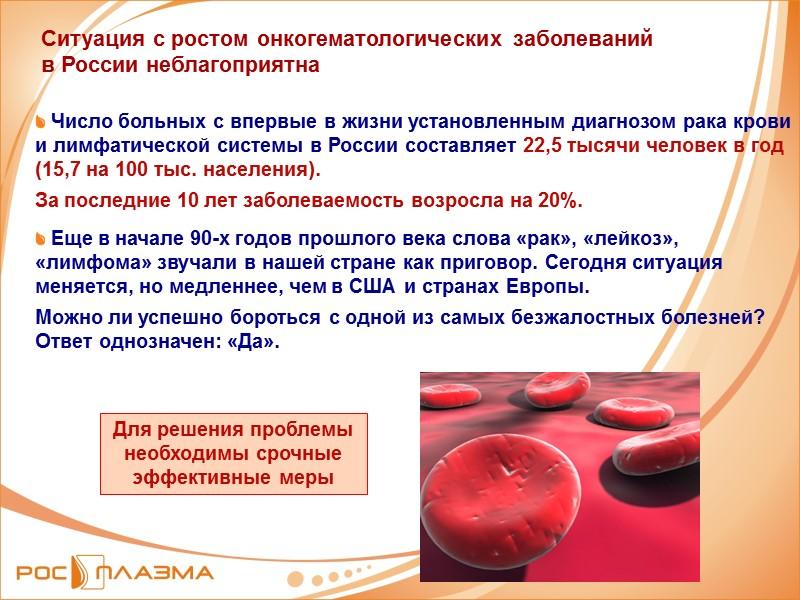 Ситуация с ростом онкогематологических заболеваний в России неблагоприятна    Число больных с
