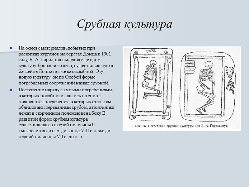Катакомбная культура С начала и до середины II тысячелетия до н. э. в бассейне