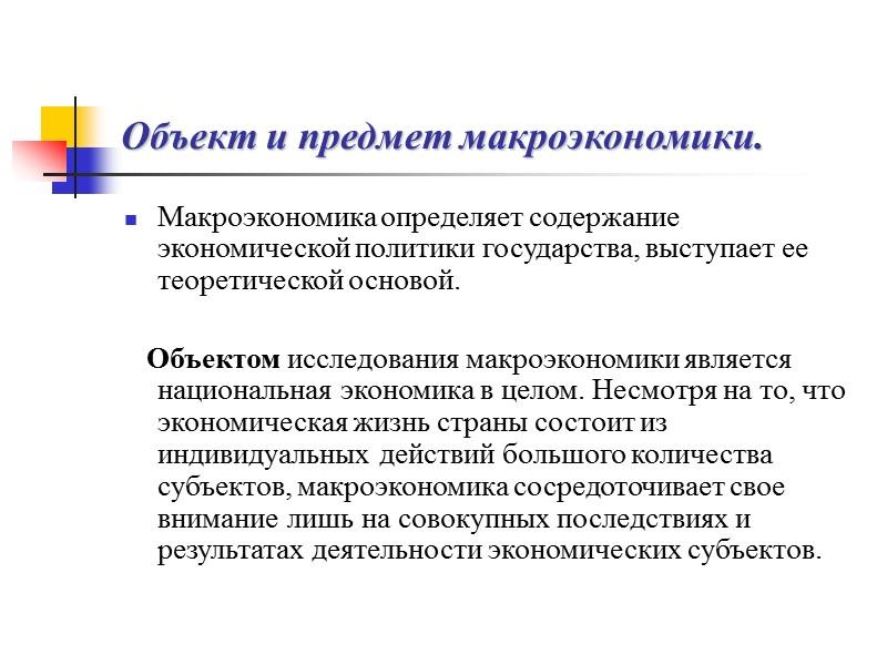 Методы макроэкономического анализа. Макроэкономические модели и величины Главным методом раскрытия предмета макроэкономики, то есть