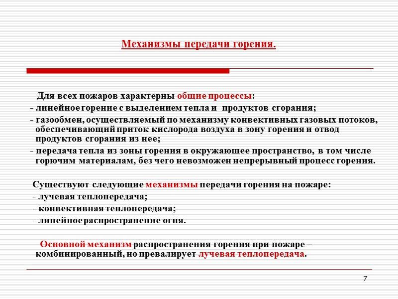 Действия должностных лиц на пожаре. (ст. 110, 111   ППБ в РФ 01-03)