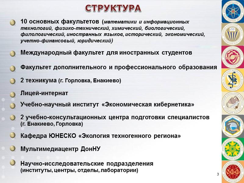 СТУДЕНЧЕСКАЯ НАУКА Наши студенты, молодые ученые и преподаватели поднимали флаги ДонНУ и  Донбасса