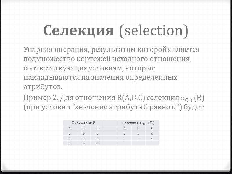 Основные понятия базы данных Деталь Имя таблицы Имя столбца Домен Строки Первичный ключ Материал