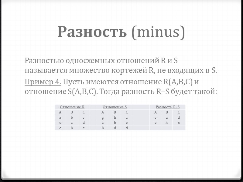 Таблицы невозможно хранить и обрабатывать, если в базе данных отсутствуют