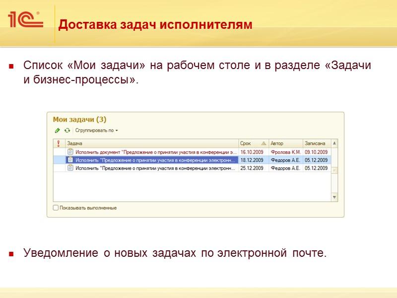 Пример группы доступа  к внутренним документам Группе доступа «Пользователь», в которую входят все