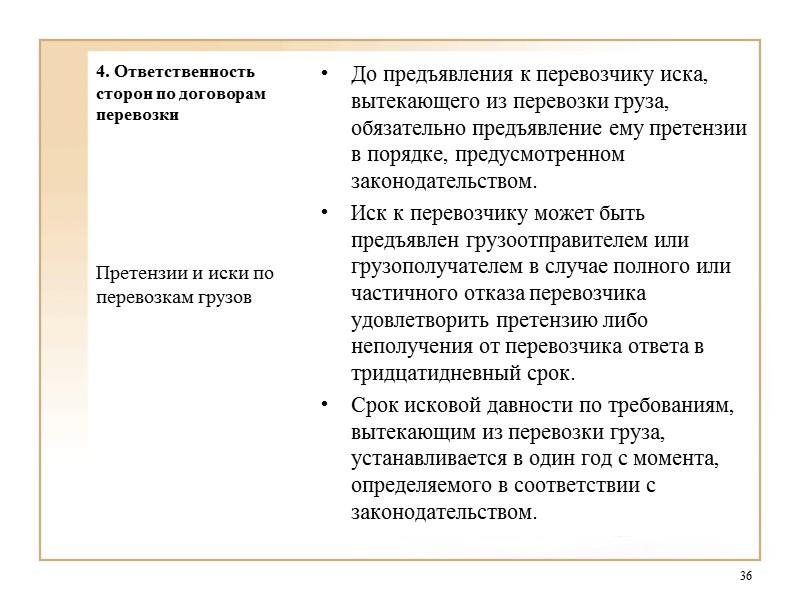 11. ответственность сторон по договору перевозки груза железнодорожным транспортом шпаргалка
