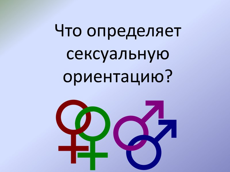 Другие четыре компонента сексуальности