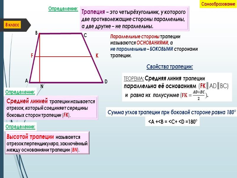 8 класс Самообразование Конечно же, чтобы усвоить данную тему, необходимо решить много задач