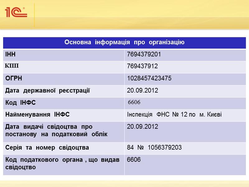 Основні відомості про програму  «1С:Бухгалтерія 8 для України»  1С:Бухгалтерія – це універсальна