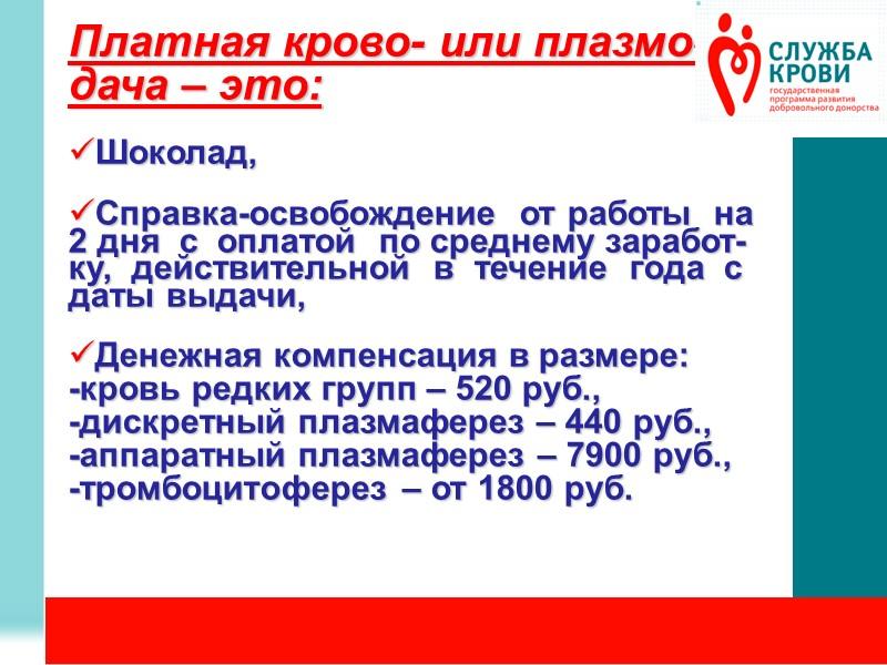 Где можно сдать кровь?   ГУЗ «Иркутская областная станция переливания крови»:  ул.Байкальская,122,