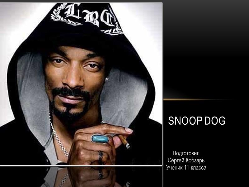 Подготовил  Сергей Кобзарь Ученик 11 класса Snoop dog