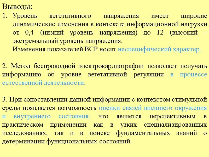 Динамика индекса вегетативного напряжения в процессе шахматной партии Испытуемый 4 Испытуемый 3 Динамика изменения