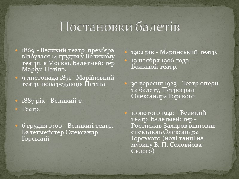 "Балет "" Дон Кіхот "" Людвінг Міскус"