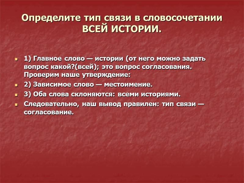 Укажите тип связи в словосочетании УВИДЕЛИ ВОРОТА (9 предложение).   (9)А в монастыре,
