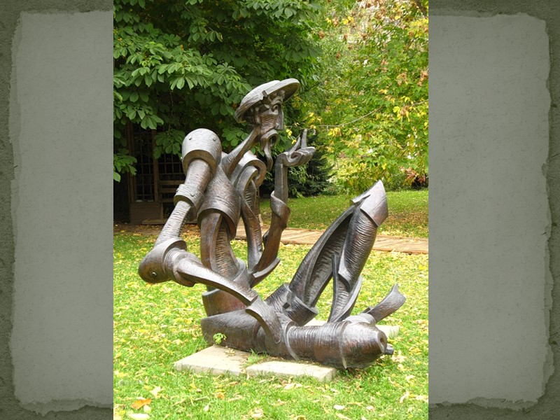 Памятник Дон Кихоту и Санчо Пансо