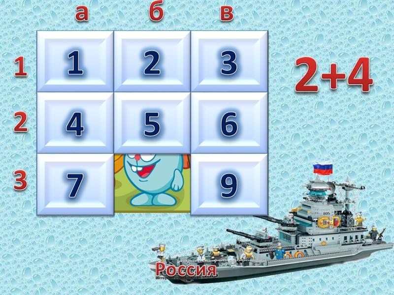 Россия  1 2 3 а б в 2 3 5 7 9 7-4