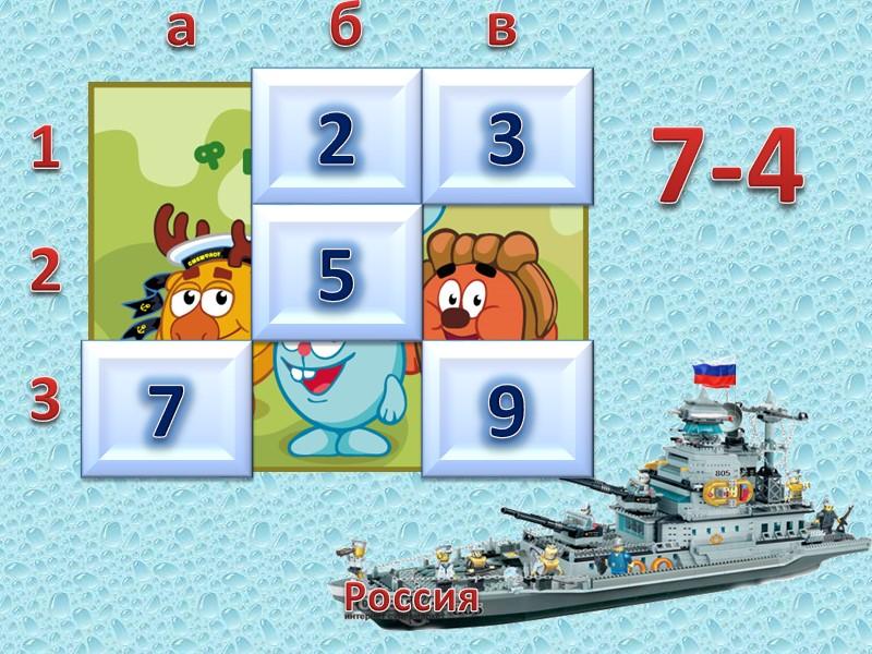 Россия  1 2 3 а б в 7 9 3+4