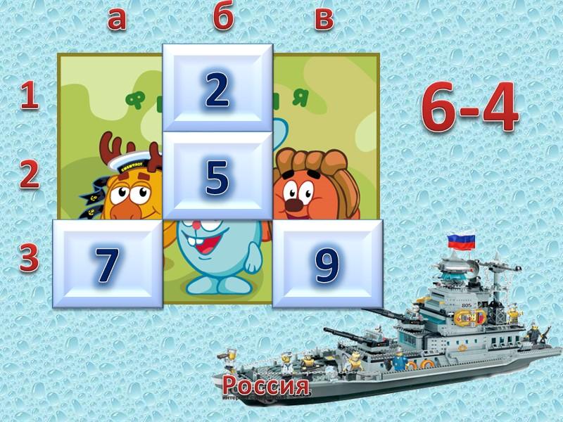 Россия  1 2 3 а б в 9    +4 5