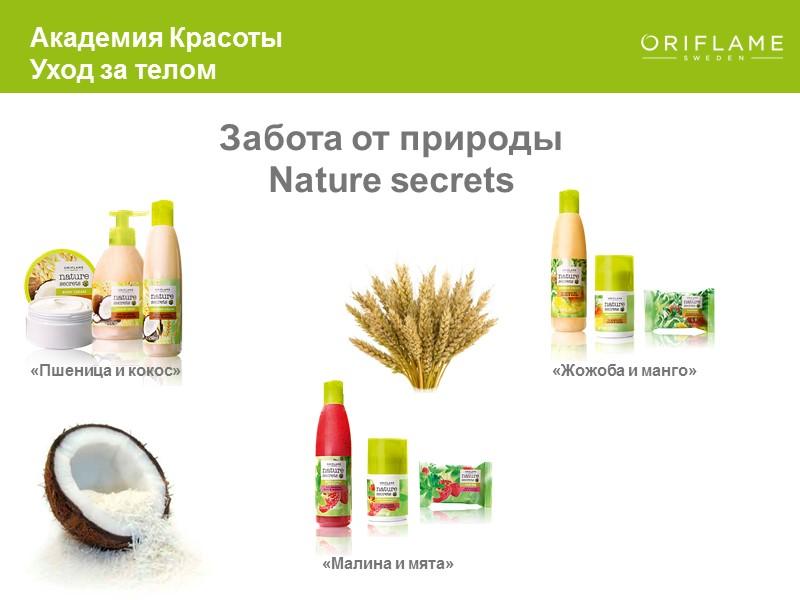 Самые известные продукты:  мыло и гель для душа Академия Красоты Уход за телом
