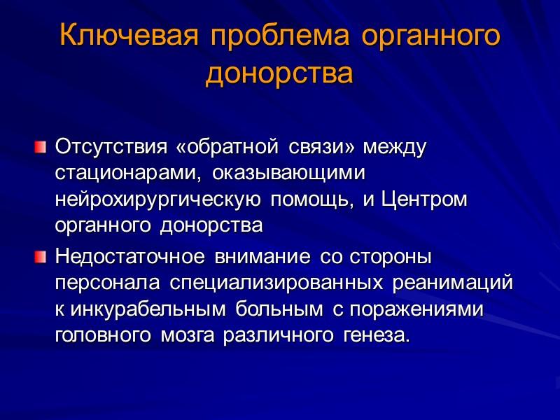 Деятельность Центра регламентируется следующими нормативными документами   Закон РФ «О трансплантации органов и