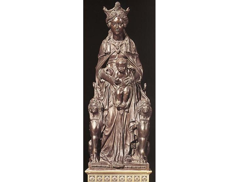 Медальон «Евангелист Матфей» Гипс. 1428-1443. Донателло. Старая сакристия церкви Сан Лоренцо, Флоренция.