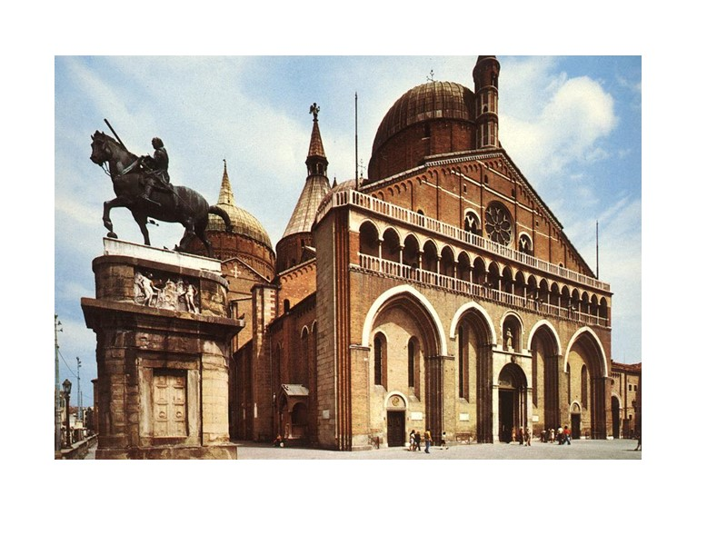 Церковь Сан Антонио, Падуя. Бронза. Мрамор. 1447—1450..