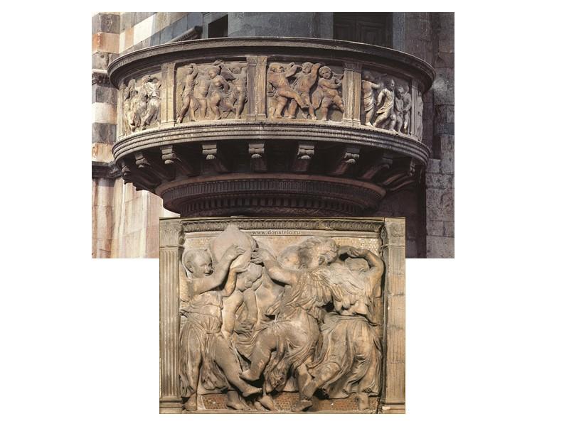 Канделябры с ангелами. Бронза, мрамор. 1430-е. Донателло. Музей Джакуемарт-Андрэ, Париж.