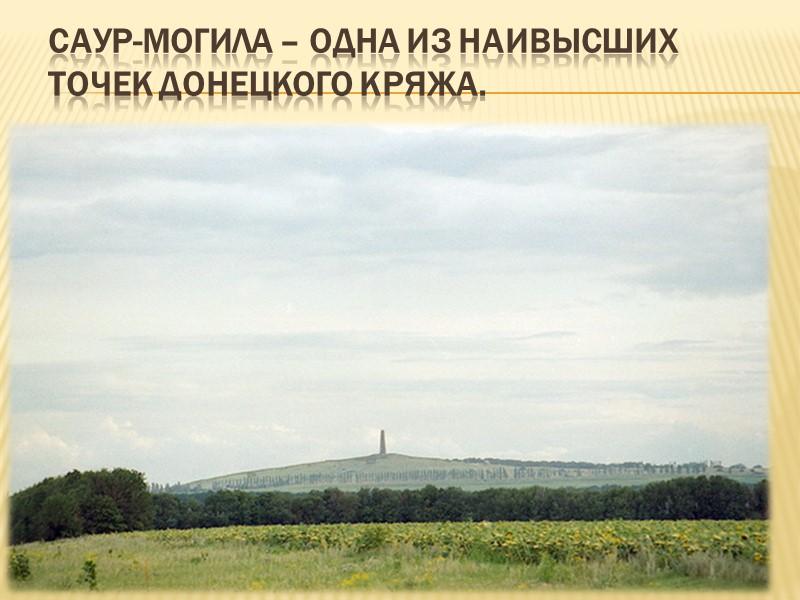Обнажение средне-карбоновых песчаников Донецкого кряжа.