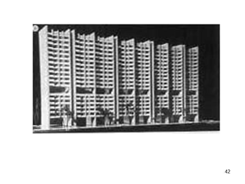 31 Устройство террасных уступов на ширину квартиры или конструктивно-планировочного шага. Дома с горизонтальными коммуникациями