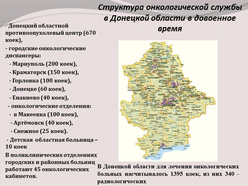 Охват специальным лечением больных с впервые установленным диагнозом ЗН в  Донецкой области и