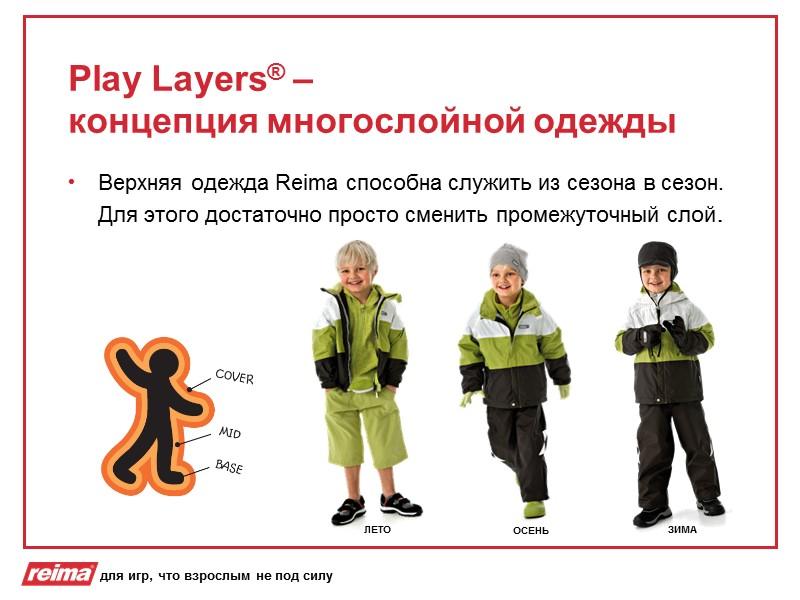 Reima®-s Reima®  Reimatec® Reimatec® Mini Reimatec® + Kiddo ® Одежда для дождливой погоды