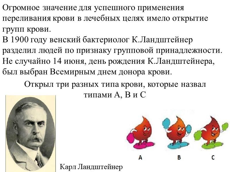 В 1931 году в г.Москве была создана Станция переливания крови, на базе которой впервые