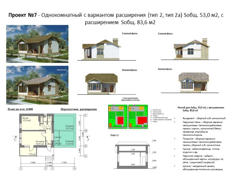 Жилой дом Sобщ. 150,4 м2 Фундамент - сборный ж/б, монолитный. Наружные стены - сборные