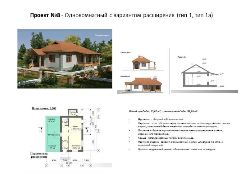Жилой дом Sобщ. 99,3 м2   Фундамент - сборный ж/б, монолитный. Наружные стены