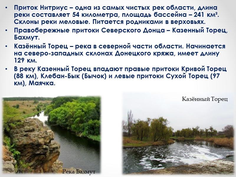 Многие водохранилища на нашей карте выглядят озерами. К ним относятся Кураховское, Карловское, Старобешевское, Углегорское,