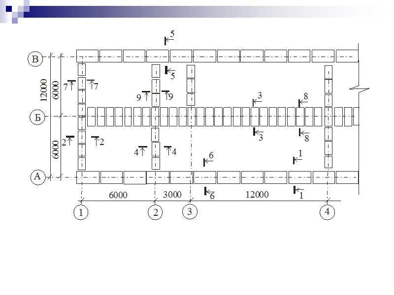 Основные несущие конструкции скатного покрытия: а – общая схема: 1 – опорный брус (мауэрлат);