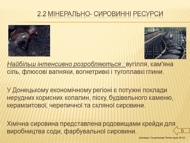 Висновок Донецький економічний регіон - це регіон України зі значним від'ємним приростом населення, високою
